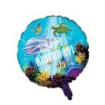 "Foil Balloon - Ocean Party Happy Birthday - 18"""