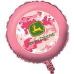 """Foil Balloon - Pink John Deere - 18"""""""
