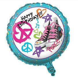 Foil Balloon - Totally 80's Happy Birthday - 18""