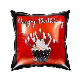 Foil Balloon - Cupcake Blowout Happy Birthday - 18""
