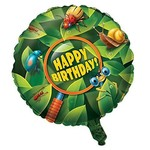 "Foil Balloon - Bug-Eyed Happy Birthday - 18"""