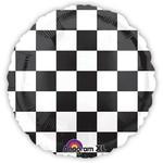 """Foil Balloon - Race Car Flag - 18"""""""