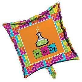 "Foil Balloon - Get Nerdy - 18"""
