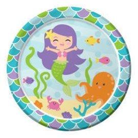 Plates BEV-Mermaid Friends-8pk-Paper - Discontinued