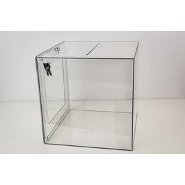 Cube Ballot Box-Large Plastic-w/ lock no Head Board-(Sale 40% off)