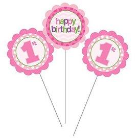 Centerpiece Sticks-1st Birthday Girl