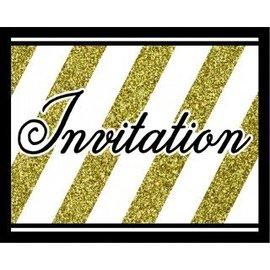 Invitations-Black & Gold-8pkg