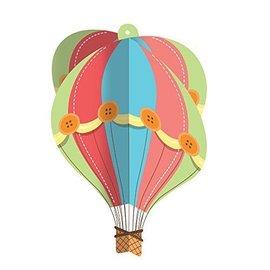 Cutouts-Hanging Hot Air Balloon-16''x16.5''x16.5''