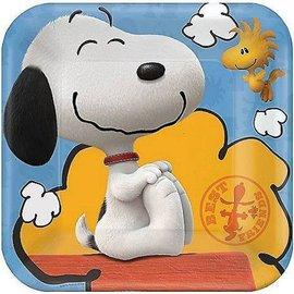 Plates-BEV-Snoopy Peanuts-8pk-Paper