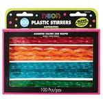 Stirrers-Neon-Plastic-7''-100pk