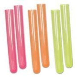 Test Tube Shot Glasses-Neon-Plastic-1.5oz-18pk