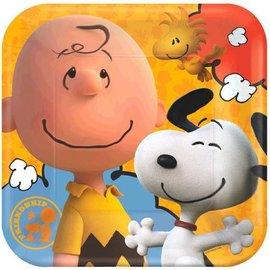 Plates-LN-Snoopy Peanuts-8pk-Paper