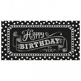 "Banner-Happy Birthday Chalkboard-1pkg-33.5""x65"""