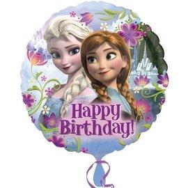 Foil Balloon - Happy Birthday Frozen - 17''