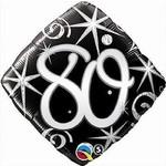 """Foil Balloon - Elegant 80 Sparkle - 18"""""""