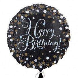 "Foil Balloon - Happy Birthday Sparkle - 18"""