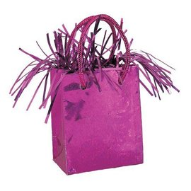 Balloon Weight-Hot Pink Prism Gift Bag-3''x2.5''