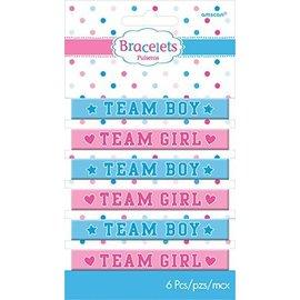 Bracelets - Rubber - Team Boy / Team Girl - 6pcs