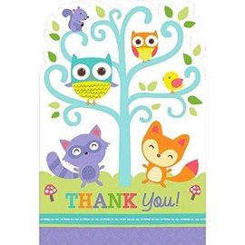Postcard Thank You - Baby Shower - Woodland Welcome - 8pcs