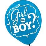"12"" Balloons - Pink / Blue - Gender Reveal - Baby Shower - 15pcs"