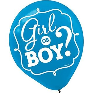 "12"" Balloons - Pink / Blue - Gender Reveal - Baby Shower - 15pcs"