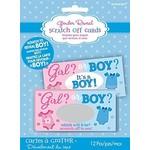 Baby Shower - Gender Reveal - Scratch Card - BOY - 12pcs