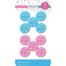 Buttons - Baby Shower - Gender Reveal - 10pcs