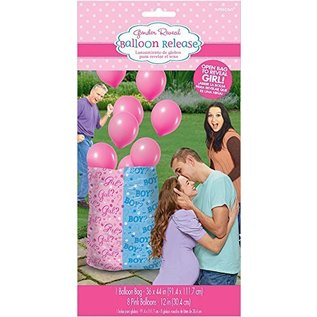 Balloon Release - Baby Shower - Gender Reveal - GIRL - 8pcs