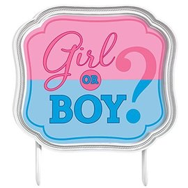 Cake Topper - Gender Reveal