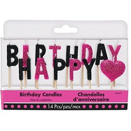 Happy Birthday - Candles - Fabulous - 14pcs