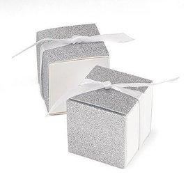 "Glitter Favor Boxes - 25pk - 2"" X 2"" X 2"""