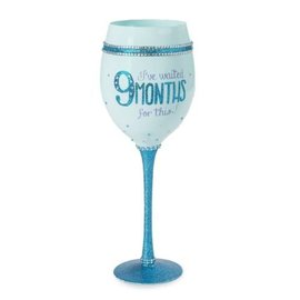 Wine Glass - I've Waited 9 Months For This - Blue - 20oz