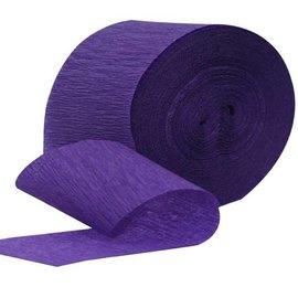 "Paper Crepe Streamers - Jumbo New Purple - 500ft x 1.75"""