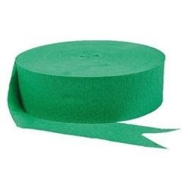 Paper Crepe Streamers - Festive Green - 500ft