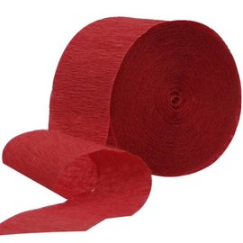 Paper Crepe Streamer - Apple Red - 500 Ft