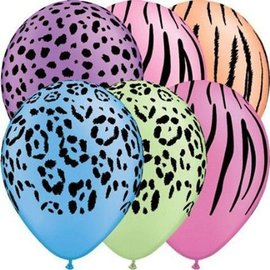 Latex Balloons - Neon Safari Assorted - 11""