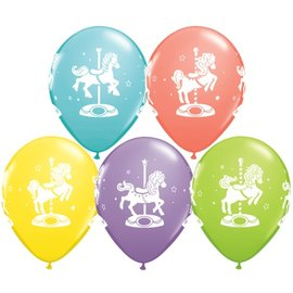 "Latex Balloons - Carousel Horses - 11"""