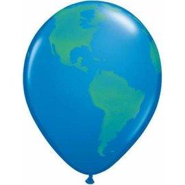 "Latex Balloons - Globe - 11"""