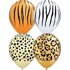 Latex Balloons - Safari Assorted - 11""