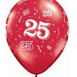 "Latex Balloon-25 A Round Assortment-1pkg-11"""