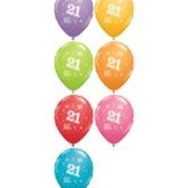 "Latex Balloon-21 A Round Assortment-1pkg-11"""