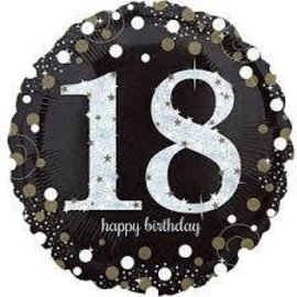 Foil Balloon - Happy Birthday 18 Sparkle - 18""
