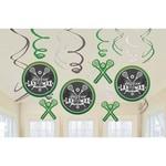 Swirl Decorations - Lacrosse - 12pc