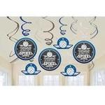 Swirl Decorations - Volleyball - 12pc