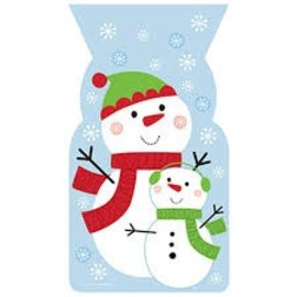 Christmas Snowman Cello Bags
