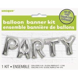 "Foil Balloon - Banner Kit ""PARTY"""