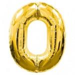 "Foil Balloon - Gold # 0 - 34"""
