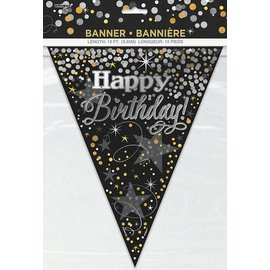 Banner - Glittering Birthday Flag - 12FT