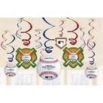 Swirl Decorations - Major League Baseball - 6pk