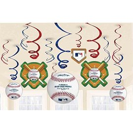 Swirl Decorations - Major League Baseball - 6pk